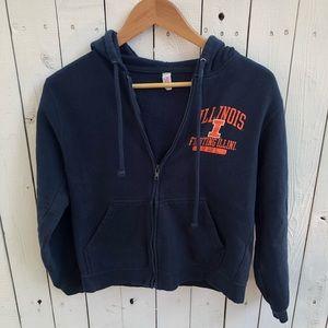 Sweaters - University of Illinois Navy Zip Hoodie